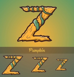 Halloween decorative alphabet - Z letter vector image