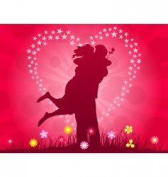 lovers meeting vector image vector image