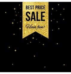 Sale golden shining label vector image vector image