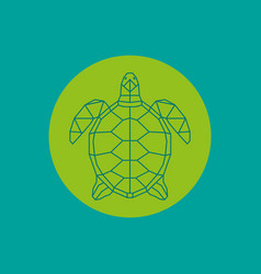 triangulated green turtle vector image vector image