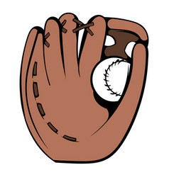 baseball glove icon icon cartoon vector image