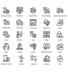 logistic delivery icons set 9 vector image