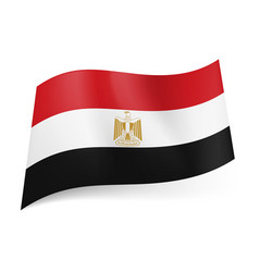 national flag of egypt red white and black vector image