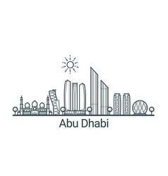 outline abu dhabi banner vector image vector image