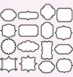 Pink Label Frames Collections vector image vector image