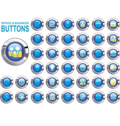 set buttons office vector image