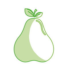 silhouette delicious pear healthy fruit vector image vector image
