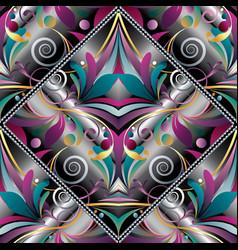 vintage hand drawn paisley seamless pattern vector image