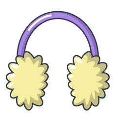 winter headphones icon cartoon style vector image vector image