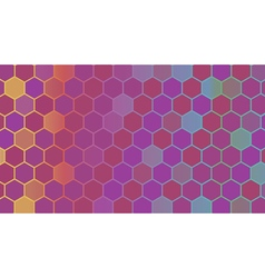 Abstract colorful hexagonal geometric background vector
