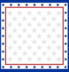 american flag symbols border vector image