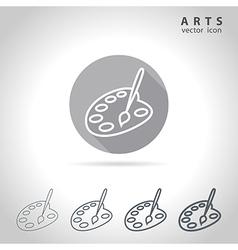 Arts outline icon vector image vector image