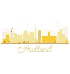 Auckland city skyline golden silhouette vector