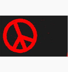 Ban the bomb blackboard vector