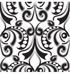 Baroque black and white seamless pattern vector