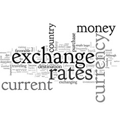 Be aware of the exchange rates when you travel vector