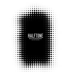 black halftone frame background vector image