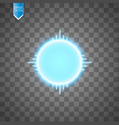 blue energy ring with speed glow lines on vector image