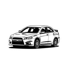 car 40 vector image