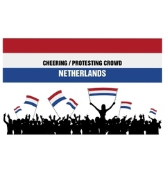 Cheering or Protesting Crowd Netherlands vector image