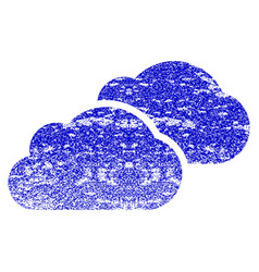 Clouds grunge textured icon vector
