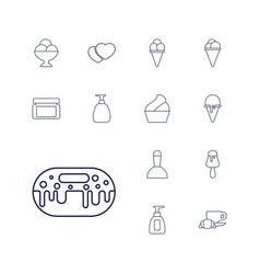 Cream icons vector