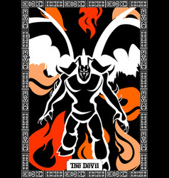 Devil card vector