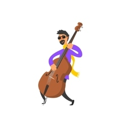 Double Bass Player vector