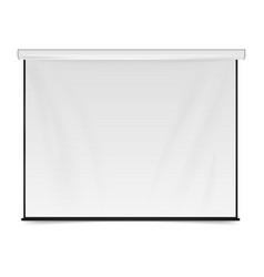 Empty projection screen blank presentation board vector
