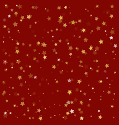 Festive flying gold stars shower vector