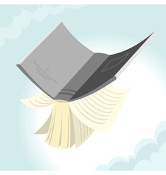 Flying book vector