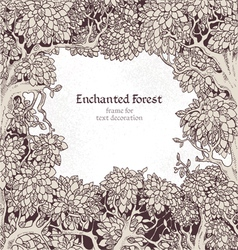 Frame for text decoration Enchanted Forest vector image
