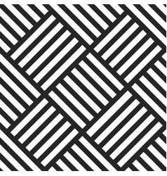 Geometric seamless pattern black and white vector