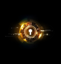 Glow keyhole abstract futuristic background vector