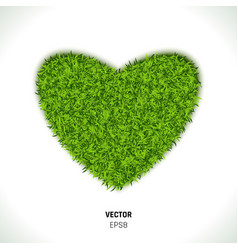 Green grass heart vector