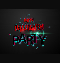halloween carnival background black logo concept vector image
