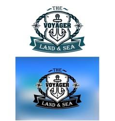 Heraldic marine shield vector image