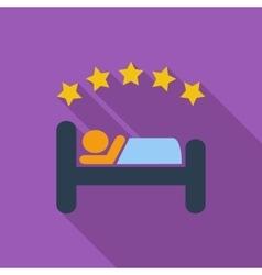 Hotel single flat icon vector