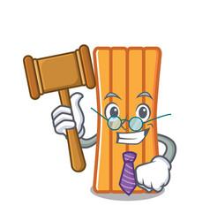 Judge air mattress mascot cartoon vector