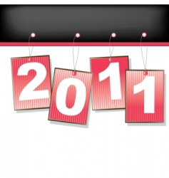 labels for 2011 year illustration vector image