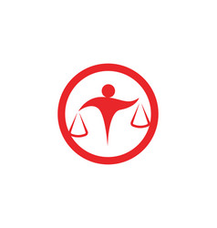 Lawyer people logo and symbols business vector