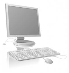 LCDmonitor and keyboard vector