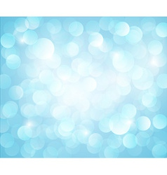 Light blue bokeh background vector image