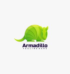 Logo armadillo gradient colorful style vector