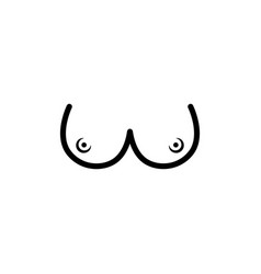 logo with big round boobs isolated on white vector image