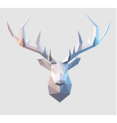 Low poly stag vector