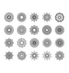 mandala decoration ornament flower motif ethnic vector image