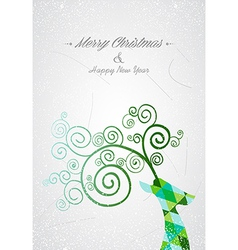 Merry Christmas colorful abstract reindeer head vector