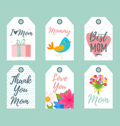 mother day tags vector image
