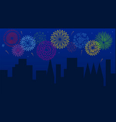 night firework background vector image